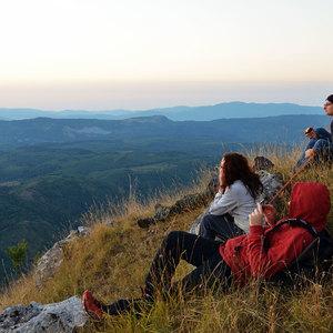 I ragazzi in escursione su Monte Cocuzzo