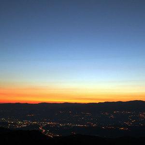 L'alba sulla Valle del Crati