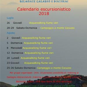 Calendario escursionistico 2018